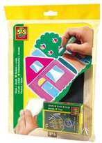 SES Creative Children's Slate Chalk Board and Chalk Set