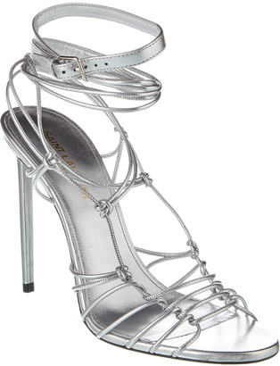 Saint Laurent Robin 105 Leather Sandal