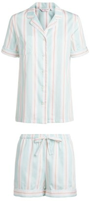 Derek Rose Milly Striped Short Pyjama Set