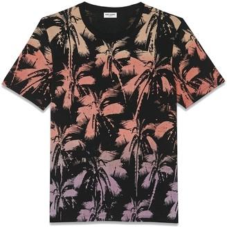 Saint Laurent T-shirt Col Rond Palm