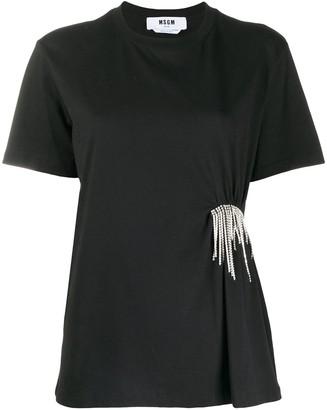 MSGM crystal fringe T-shirt
