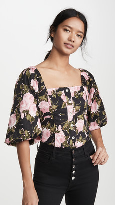 WAYF Aberdine Puff Sleeve Top