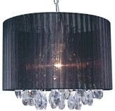 Naeve 785322 Fabric Pendant Lamp with Exclusive Bulb 30 cm x 36 cm / Fabric / Acrylic Black / Clear