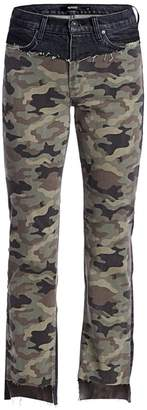 Hudson Jeans Barbara High-Rise Camo Step-Hem Jeans