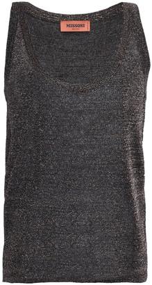 Missoni Metallic Crochet-knit Tank