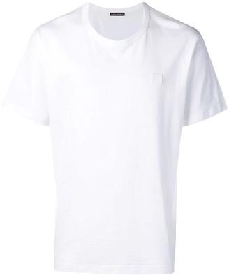 Acne Studios Classic Fit Cotton T-shirt Optic White