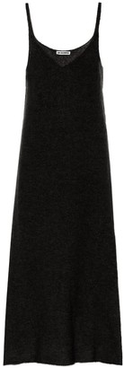 Jil Sander Mohair-blend knit slip dress