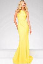 Jovani Elegant Sleeveless Fitted Backless Illusion Long Jersey Dress 39571