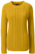 Classic Women's Cable Shaker Sweater-Atlas Yellow