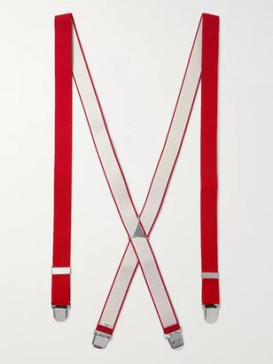 Charvet Stretch-Webbing Braces - Men - Red