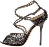 Jimmy Choo Crystal Embellished Multistrap Sandals