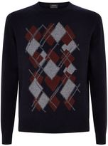 Z Zegna Argyle Cashmere Sweater
