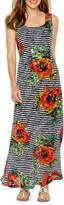 Ronni Nicole Sleeveless Floral Stripe Lace Maxi Dress