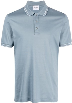 Salvatore Ferragamo Contrasting Stripe Polo Shirt