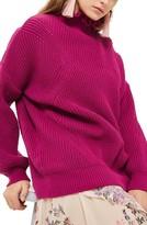 Topshop Women's Frill Neck Sweater