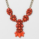 BaubleBar SUGARFIX by Geometric Statement Necklace with Fringe Detail - Light Gray