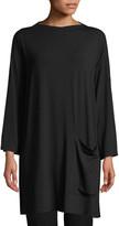 Eileen Fisher Bateau-Neck Jersey Tunic