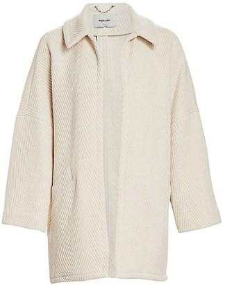 Rachel Comey Husk Chevron Wool-Blend Coat