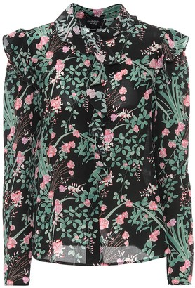 Giambattista Valli Floral silk crepe de chine blouse