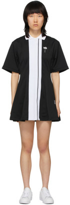 Palm Angels Black Tennis Track Dress