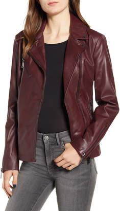 Bernardo Curry Lamb Leather Moto Jacket