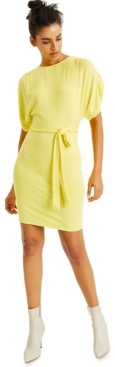 INC International Concepts Culpos X Inc Jersey Tie-Waist Mini Dress, Created for Macy's
