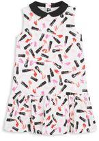 Kate Spade Toddler's & Little Girl's Lipstick-Print Drop Waist Dress