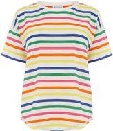 Warehouse Rainbow Stripe Tee