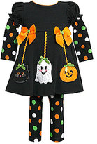 Bonnie Baby 3-24 Months Halloween Dress & Dotted Leggings Set