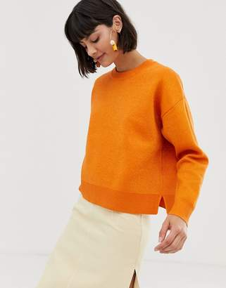 Selected sweater-Orange