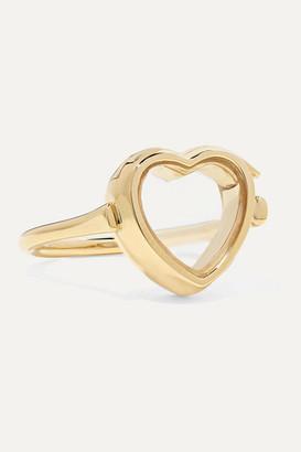 Loquet 14-karat Gold And Sapphire Crystal Locket Ring - 3