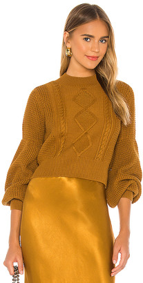 Shona Joy Warner Cable Knit Cropped Sweater