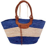 San Diego Hat Company Women's Paperbraid Tote BSB1561 - Blue/Natural Casual Handbags
