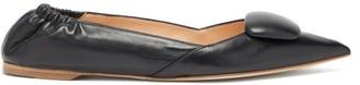 Rupert Sanderson Calin Point-toe Leather Flats - Black