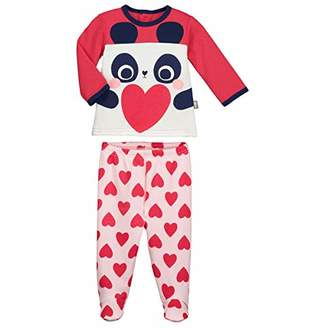 Camilla And Marc Baby 2 Piece Fleece Pyjamas with Feet MiniLove - Size 12 Months (80 cm)