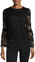 WORTHINGTON Worthington Bell Sleeve Lace Top