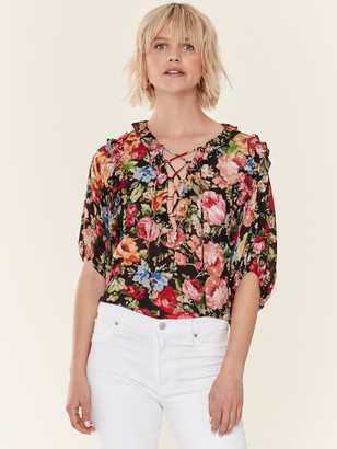 Icons Objects Of Devotion Ruffle Lace Up Blouse