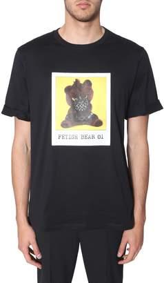 Neil Barrett fetish bear 01 print t-shirt