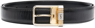 Yves Saint Laurent Pre-Owned 1990s Square Buckle Belt