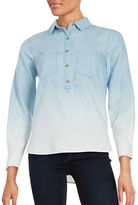 Jessica Simpson Long Sleeve Classic Fit Denim Shirt