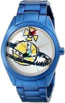 Vivienne Westwood Women's VV072SLNV St. Paul's Analog Display Swiss Quartz Blue Watch