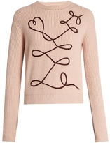 Roksanda Vanua crew-neck wool and cashmere-blend sweater