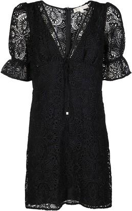 MICHAEL Michael Kors Black Medallion Lace Dress