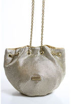 BCBGMAXAZRIA Metallic Gold Chain Mail Gold Tone Accent Small Shoulder Bag