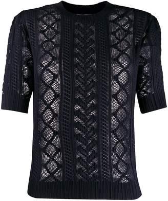 See by Chloe sheer knitted top