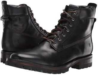 Frye Union Workboot (Black WP Smooth Pull-Up) Men's Boots