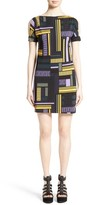 Versace Women's Cold Shoulder Print Jersey Dress