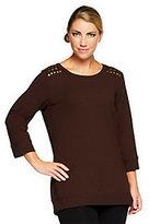Denim & Co. As Is French Terry Hi-Low Hem Sweatshirt