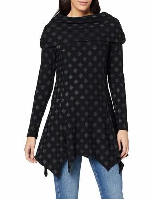 Joe Browns Women's Checkerboard Tunic Long Sleeve Top Black (Black (Size:10)