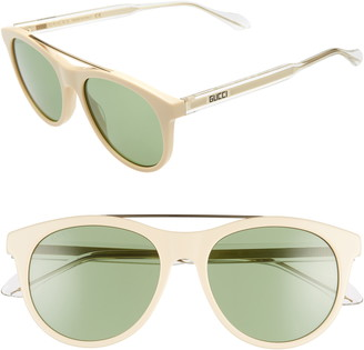 Gucci 54mm Aviator Sunglasses